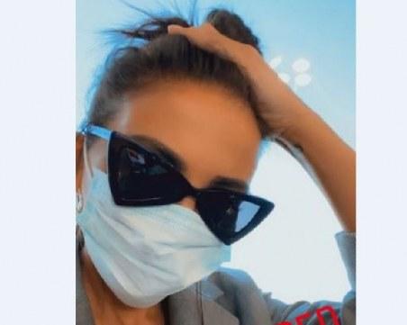 Николета с включване от Италия, сложи антивирусна маска на лицето