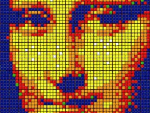 Мона Лиза от кубчета Рубик беше продадена за над 500 хиляди долара