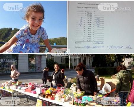 Само за 2 дни: Пловдивчани събраха 2 000 лв. в помощ на малката Бориса