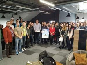 Академик Бултекс 99 зарадва спонсора си с торта по повод годишнина