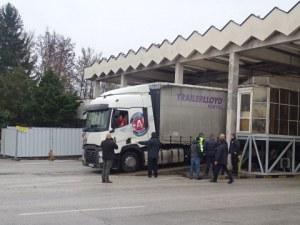 """Блокада от камиони на """"Кулата"""