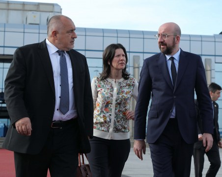 Борисов се срещна с Шарл Мишел преди заминаването му за Анкара