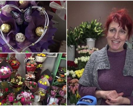 Бонбонени букети заместват цветята на 8 март