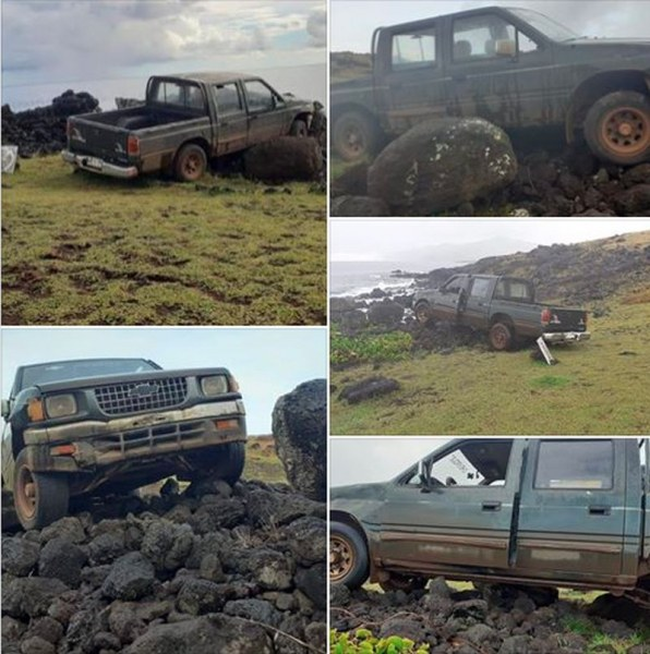 Кола блъсна и унищожи една от древните статуи на Великденския остров