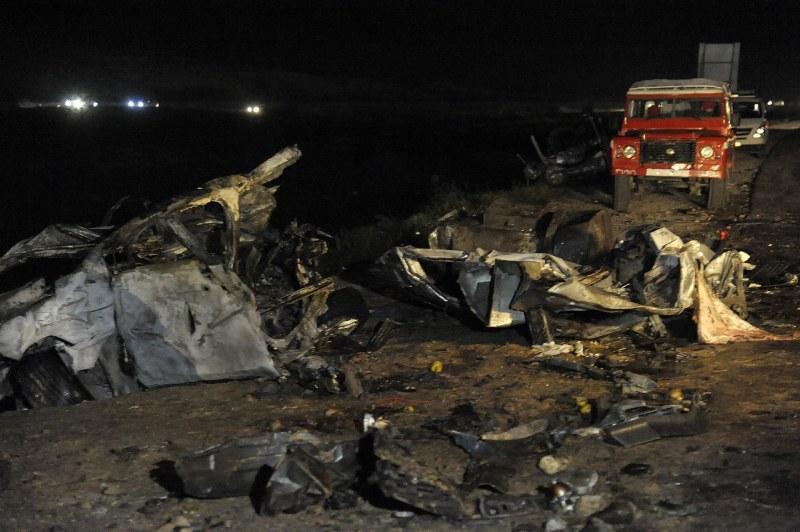 32 жертви в голяма верижна катастрофа