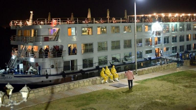 Круизен кораб в Египет е евакуиран след потвърдените 45 случая на коронавирус