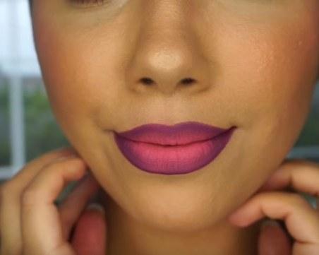 Как да си направим омбре устни?