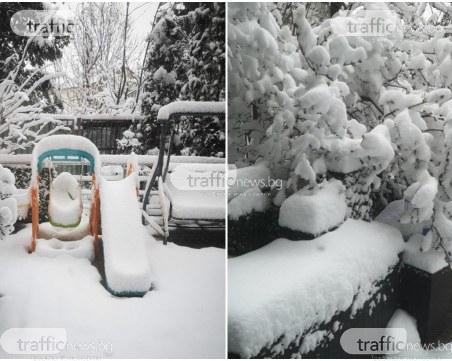 Сняг върна зимата в София, КПП-тата на изходите - блокирани