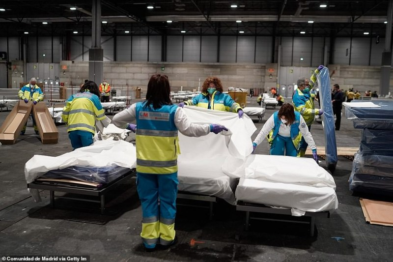 Жертвите на коронавируса в Испания скочиха с 24 процента за ден
