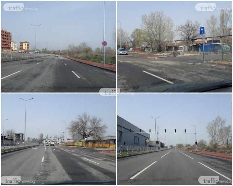 Новият булевард на Пловдив: Коли в насрещното и среднощни гонки