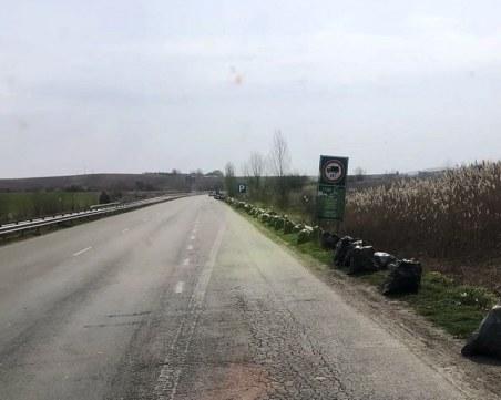 30 тона отпадъци са почистени в участъка от АМ