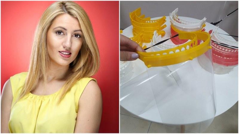 Младата майка, която сама изработва и дарява предпазни шлемове на болници в България