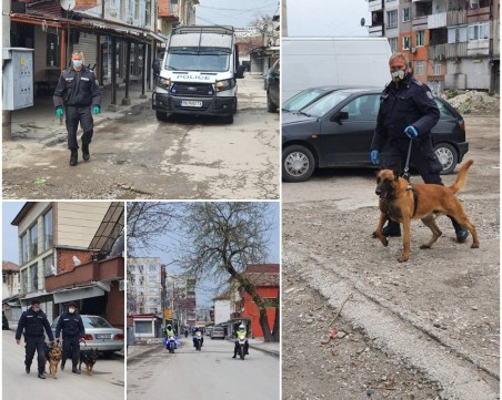 Столипиново отново почерня от полиция! Бусове, кучета и мотори следят за реда