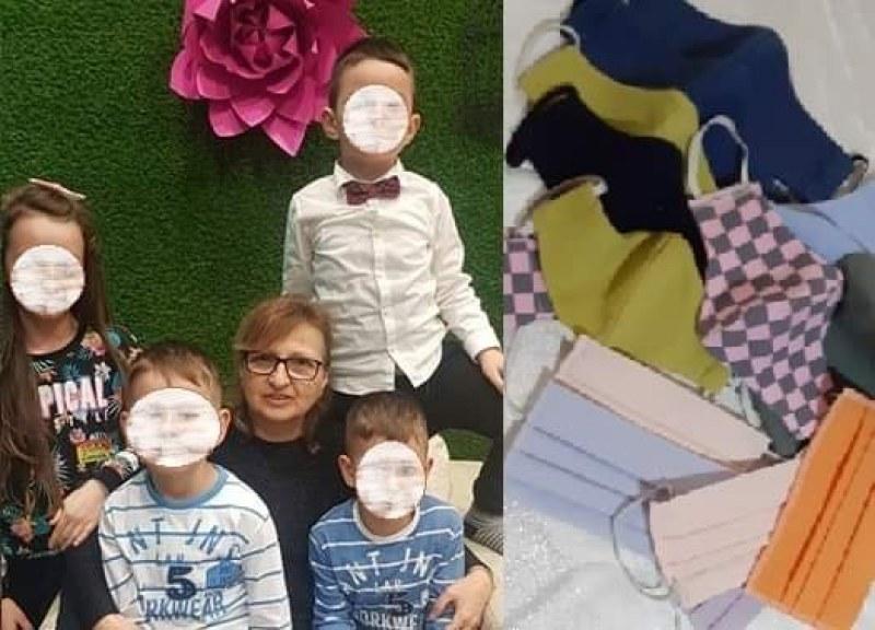 Добрият пример: Баба на 5 деца от Пловдив изработва маски доброволно, дарява ги на хора в нужда