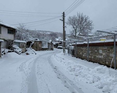 25-35 см е снежната покривка в някои асеновградски села