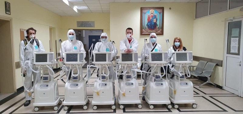 6 респиратора получи като дарение Александровска болница