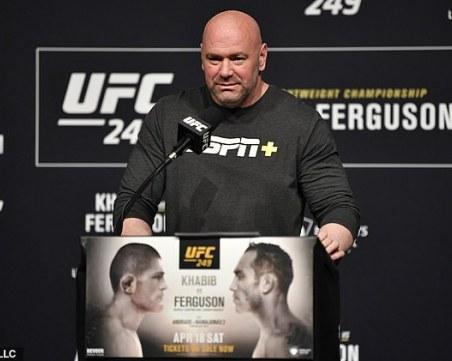Обаждане отгоре провали събитието UFC 249 на Дейна Уайт