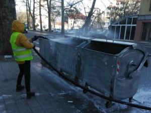 За трети път: Контейнерите в Пловдив щателно дезинфекцирани