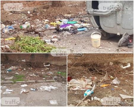 Мизерия в Кършияка: Контейнерите празни, боклукът – по земята