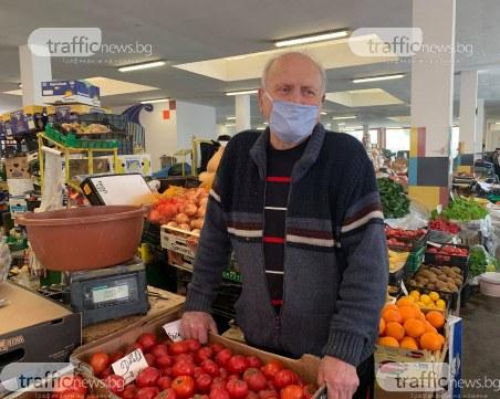 Пазарите в Пловдив отвориха врати, половината сергии - празни