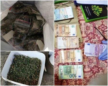 Удар на полицията! Задържаха мъж с над 10 кг. трева и оръжие, в дома му откриха 100 бона