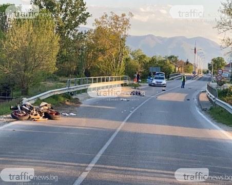 Моторист връхлетя пешеходец край Пловдив, уби го намясто