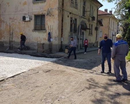 Ремонтират локалното на Цариградско шосе в Пловдив