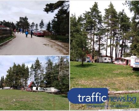 След падането на забраните: каравани и барбекюта окупираха поляните на хижа