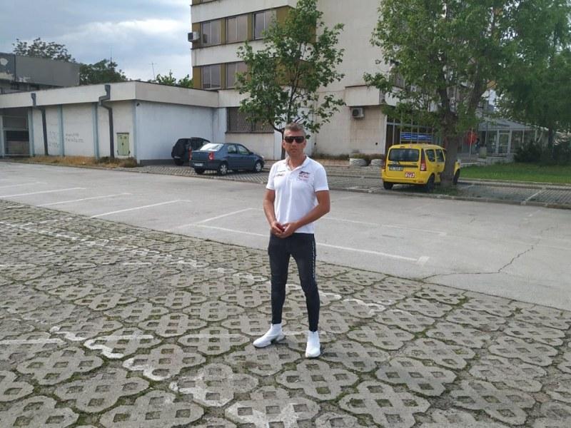 Рали пилот стяга автокино на пъпа на Пловдив