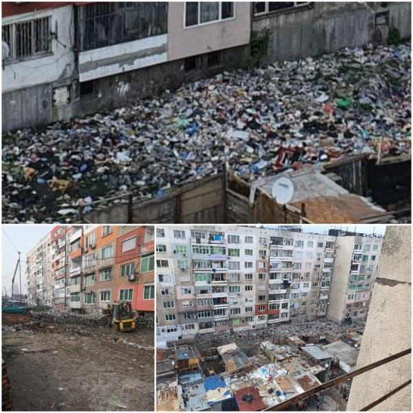 Извозиха 5000 тона боклук от Столипиново, а вече все едно не е чистено