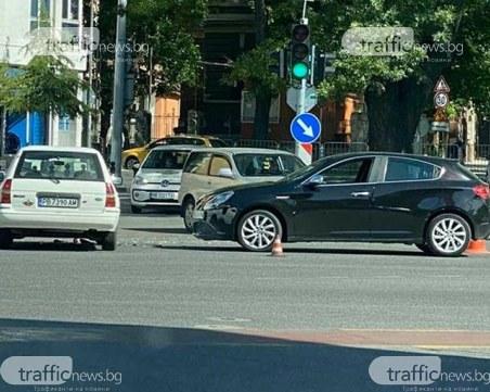 Две коли се потрошиха в центъра на Пловдив
