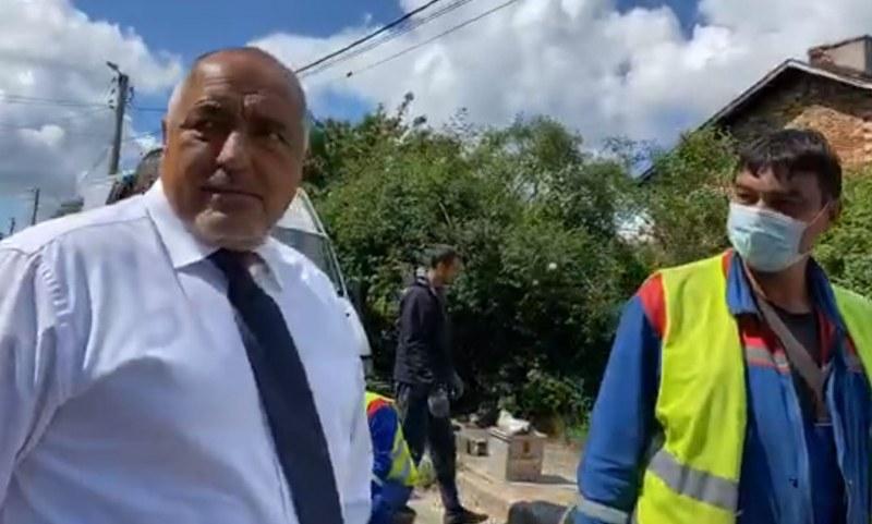 Бойко Борисов  е в Перник,  гледа ВиК инфраструктурата с кмета
