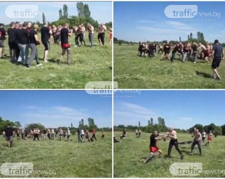 Изтече видео на уговорения бой между фенове на Ботев и Локо
