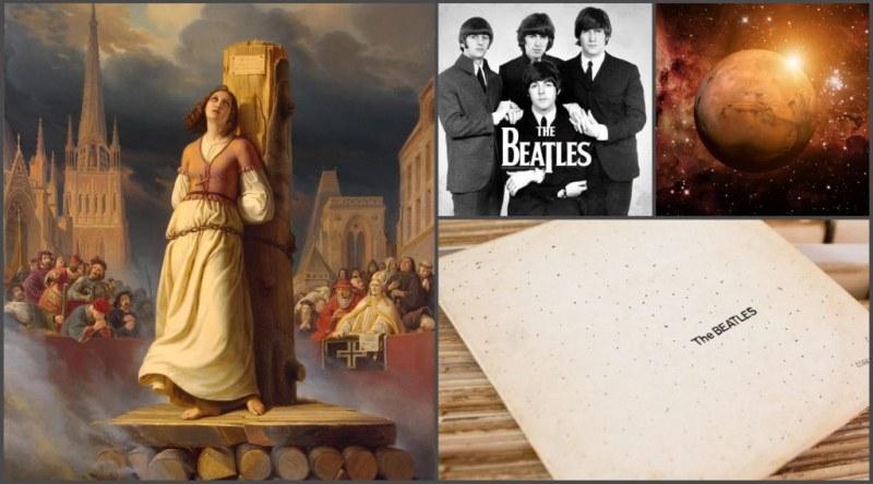 """На този ден: """"Орлеанската дева"""" е изгорена на клада, Бийтълс започват да записват своя """"Бял албум"""""""