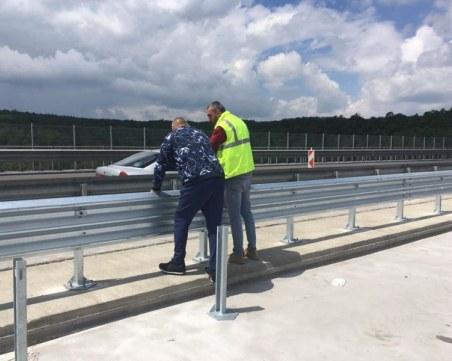 """Бойко Борисов инспектира ремонта на виадукта на АМ """"Тракия"""
