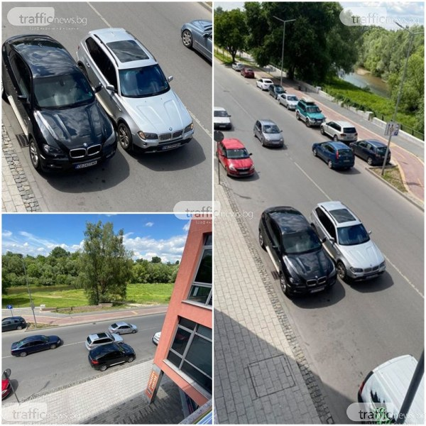 Безпрецедентна наглост в Пловдив! Джип спря в средата на… булевард