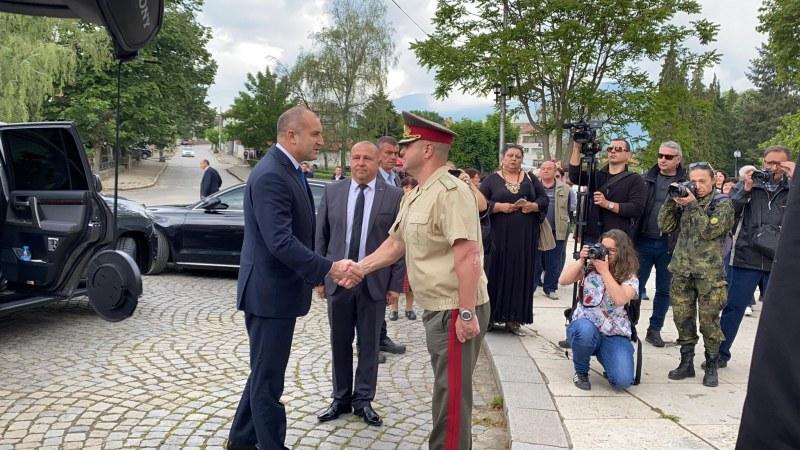 Президентът пристигна в Калофер, за да почете паметта на Ботев