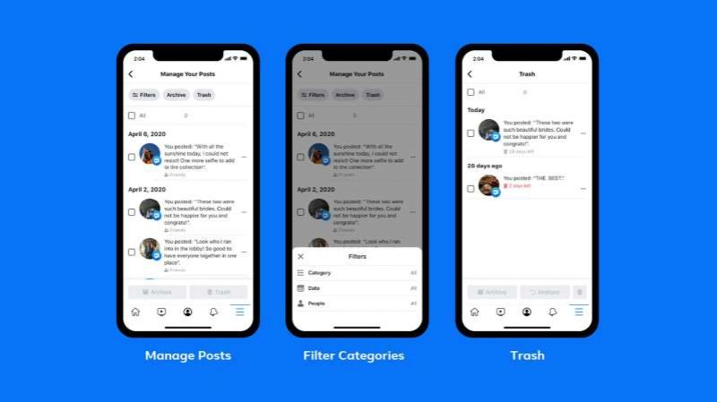 Facebook пуска нова опция за лесно изтриване на неудобните стари публикации