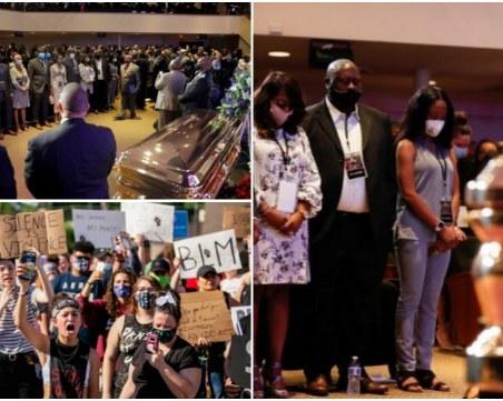 Минеаполис се прости с Джорд Флойд, протестите продължават