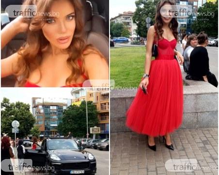 Най-красивата пловдивчанка за 2019 със стилна червена рокля на бала си