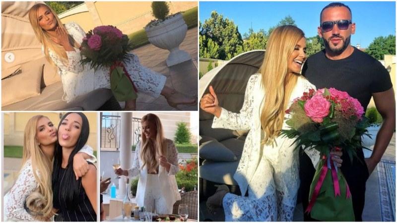 Облечена в бяло и с шумно парти Анелия посрещна 38-мия си рожден ден