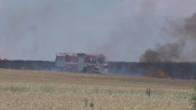 Голям пожар в Хасково заради неизправна техника