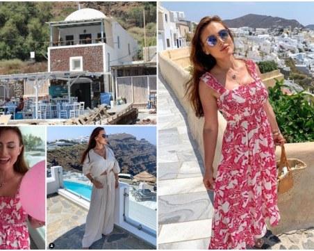 Лили Ангелова празнува ЧРД в емблематична гръцка таверна насред Цикладите