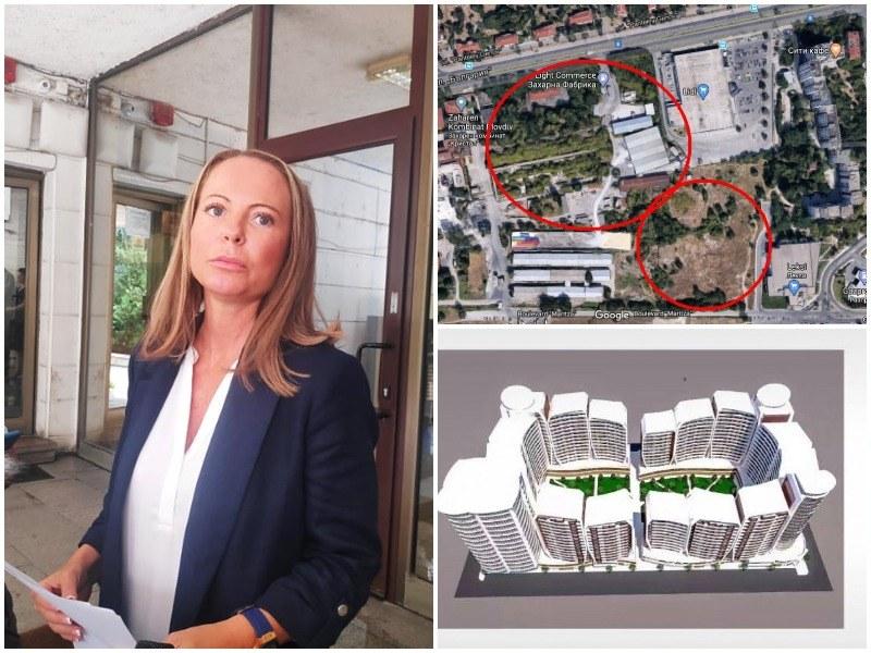 Каназирева: ОбС може да спре ПУП-а за терена в Захарна фабрика, за другия имот няма какво да направим