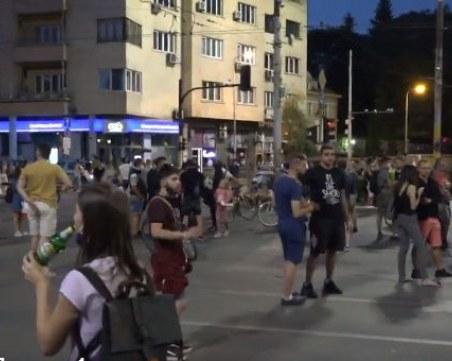 Протестиращи блокираха Орлов мост с призиви
