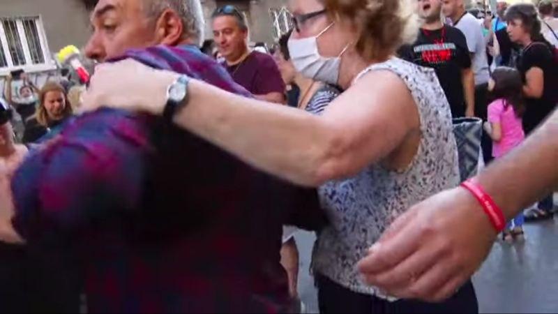 Агресия и обиди към екип на Канал 3 на протеста