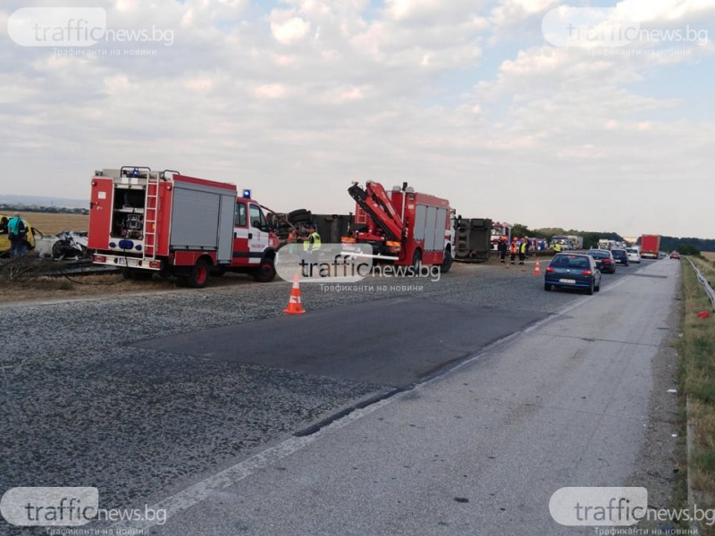 Шофьорът на турския тир, помел 4 коли на АМ