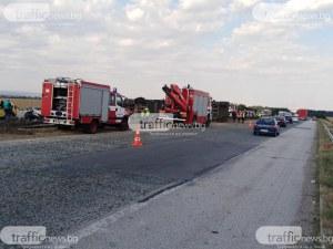Транспортират по спешност 2-годишното дете, пострадало при мелето с ТИР на магистралата