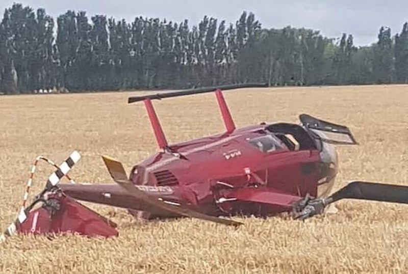 Хеликоптер се разби, 4-мата на борда невредими