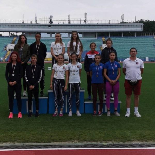 Атлетите на Локомотив с 14 медала от държавното до 20 години